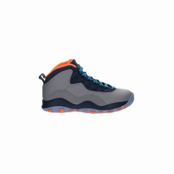 310805-026 Air Jordan 10 Retro Wolf Grey/Dark Powder Blue-New Slate-Atomic Orange