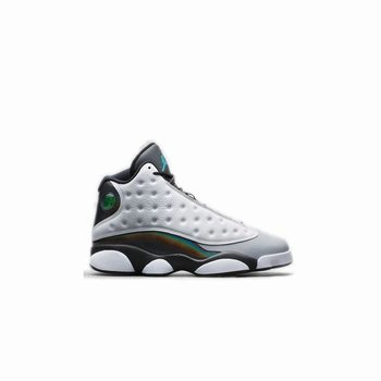 Authentic 414571-115 Air Jordan 13 Retro White/Tropical Teal-Black-Wolf Grey