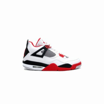 136027-110 Air Jordan 4 Fire Red 2012 White Fire Red Black