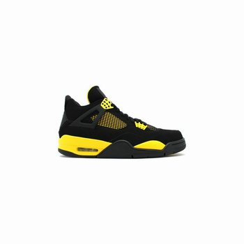 0370d18e0c06 308497-008 Air Jordan 4 Retro Thunder Black White-Tour Yellow