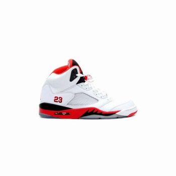 136027-162 Air Jordan 5 (V) Retro Fire Red White Fire Red Black A05004