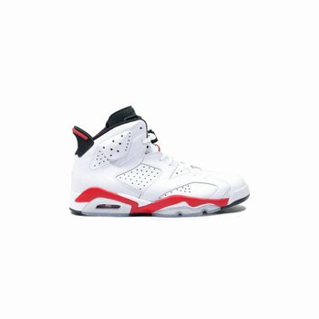 Authentic 384664-123 Air Jordan 6 (VI) Original White infrared Black Grade School's Shoe