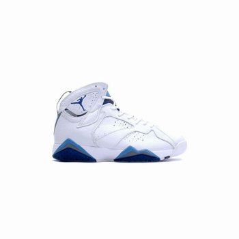 304775-141 Air Jordan 7 (VII) Retro White French Blue Flint Grey A07009
