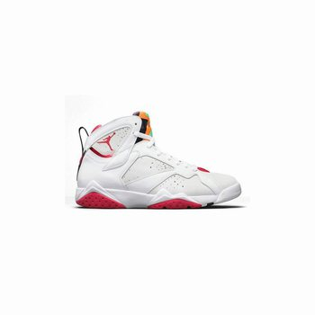 Authentic 304775-125 Air Jordan 7 Retro White/True Red-Light Silver-Tourmaline
