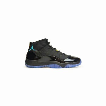 Air Jordan 11 Retro 378037-006 Black/Gamma Blue-Black-Varsity Maize Women's Shoe
