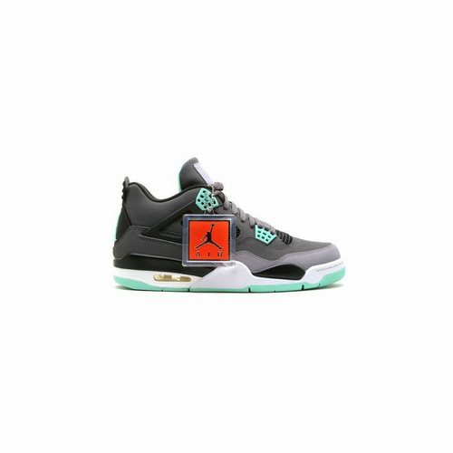 official photos f32bf ad61f 308497-033 Air Jordan 4 Retro Dark Grey Green Glow-Cement Grey-Black (Women  Men Gs Girls) For Sale, Air Jordan Retro 8, Jordan Retro 8 Gold